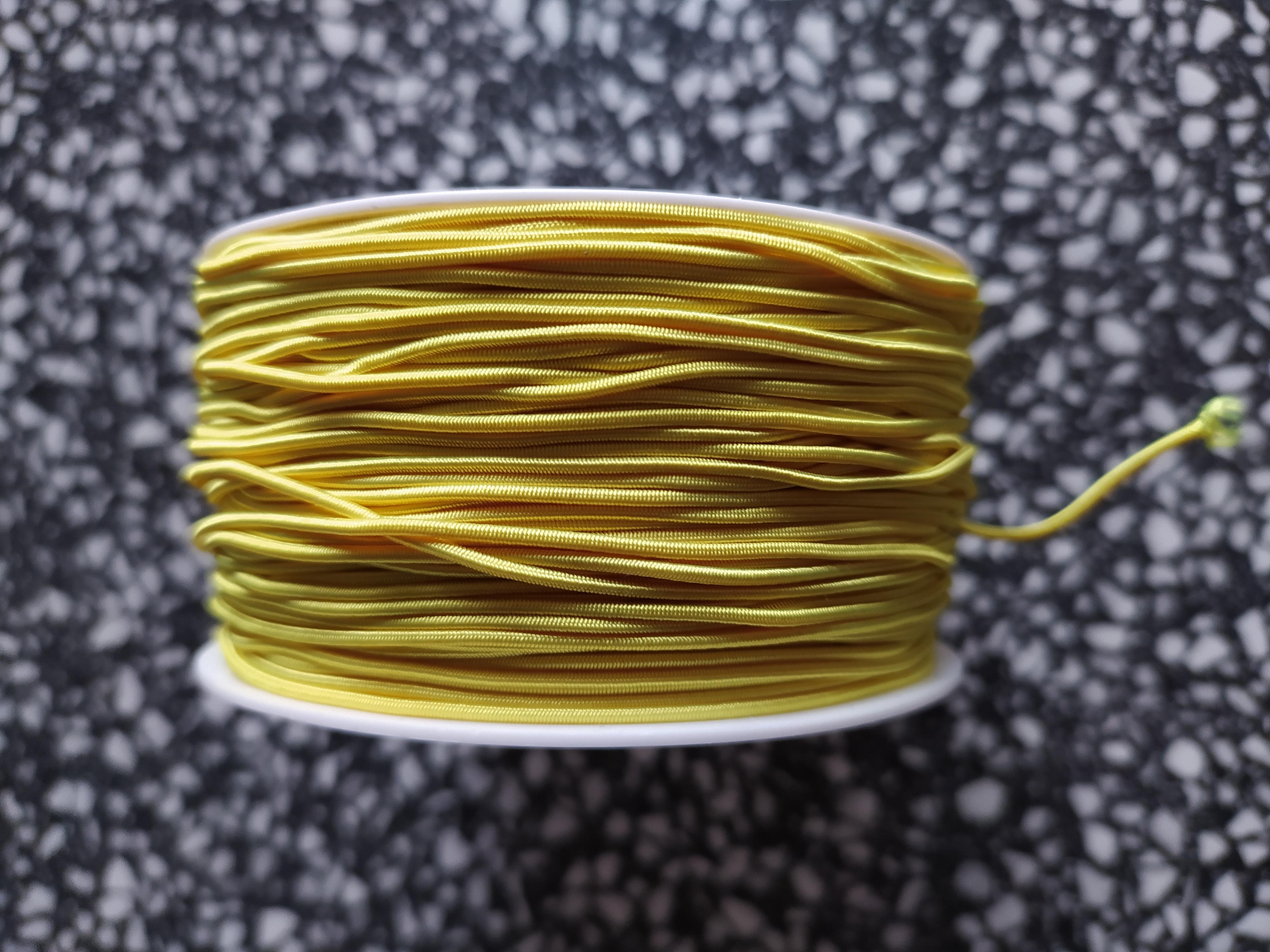 Klobouková guma 1,2 mm - karta 10 m žlutá