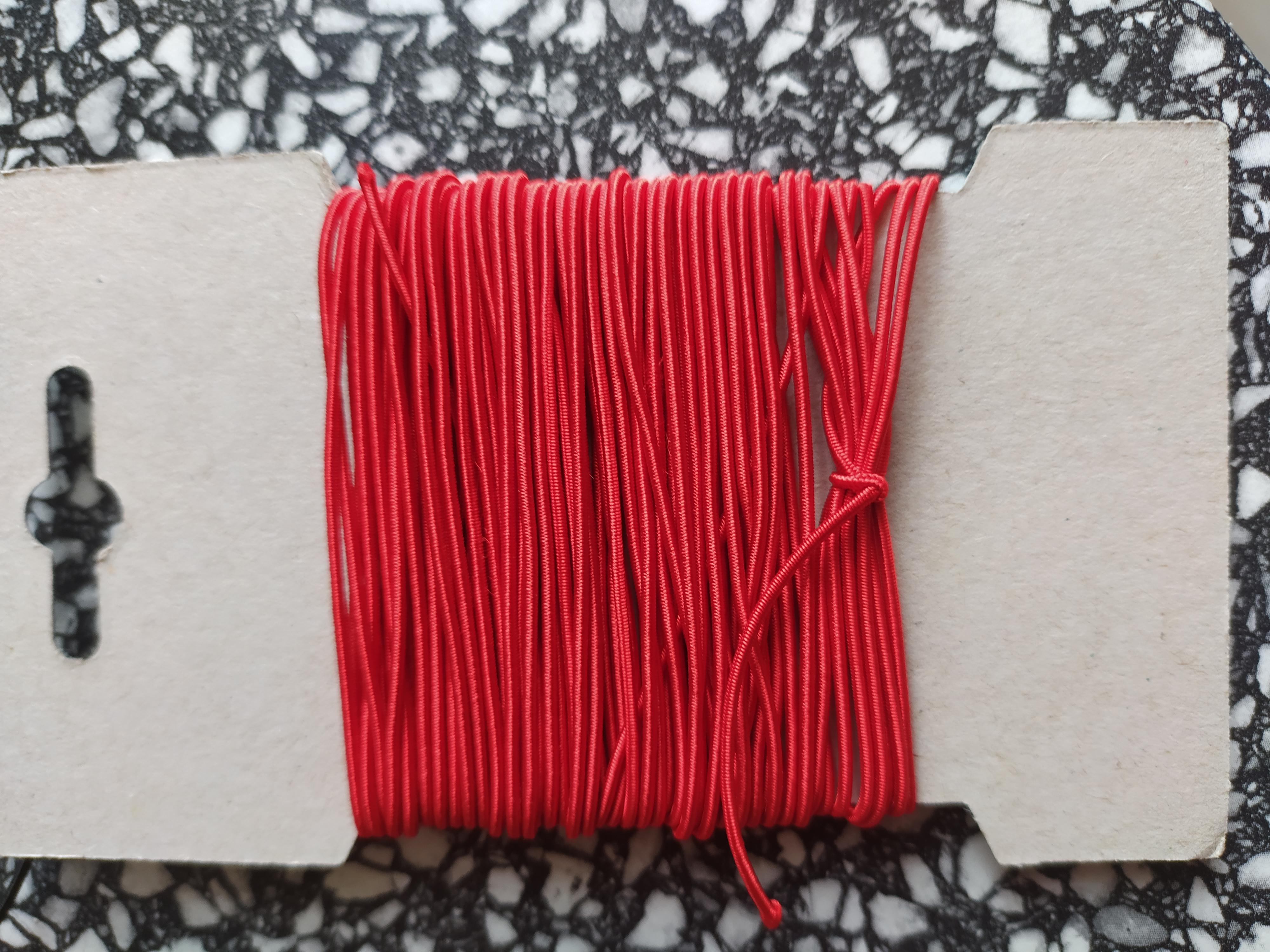 Klobouková guma 1,2 mm - karta 10 m červená