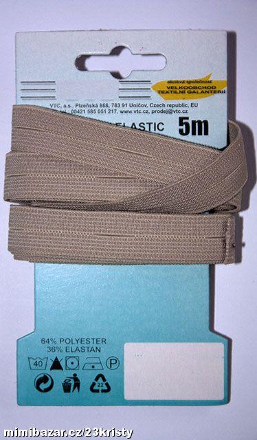 Pruženka dírková 15 mm béžová