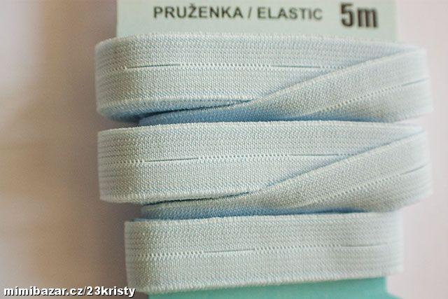 Pruženka dírková 15 mm bledě modrá