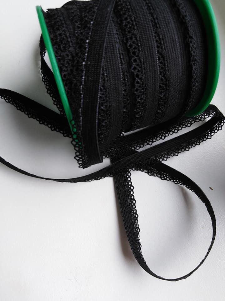 Pruženka prádlová 11 mm černá