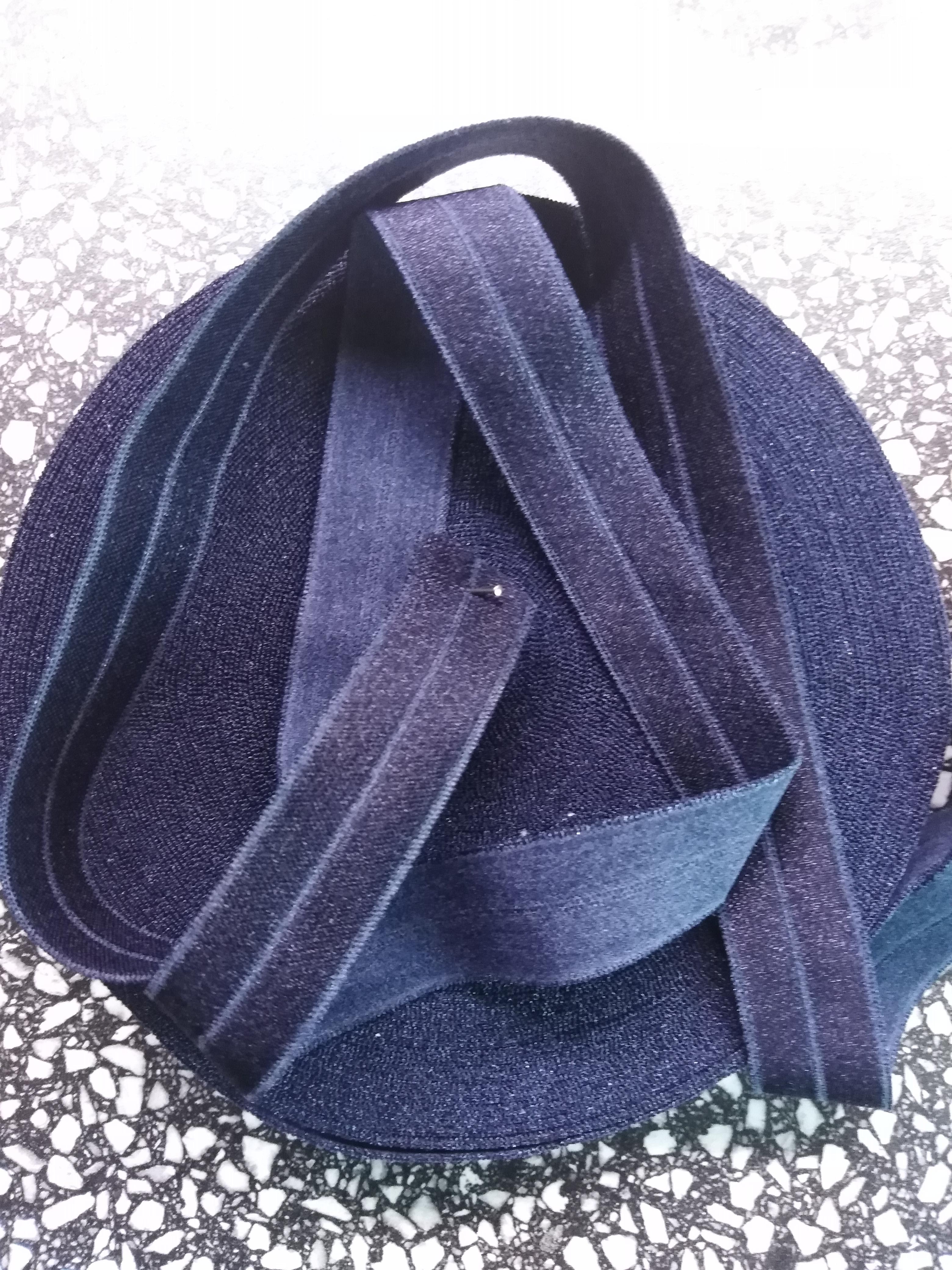 Pruženka lemovací půlená 19 mm tmavě modrá