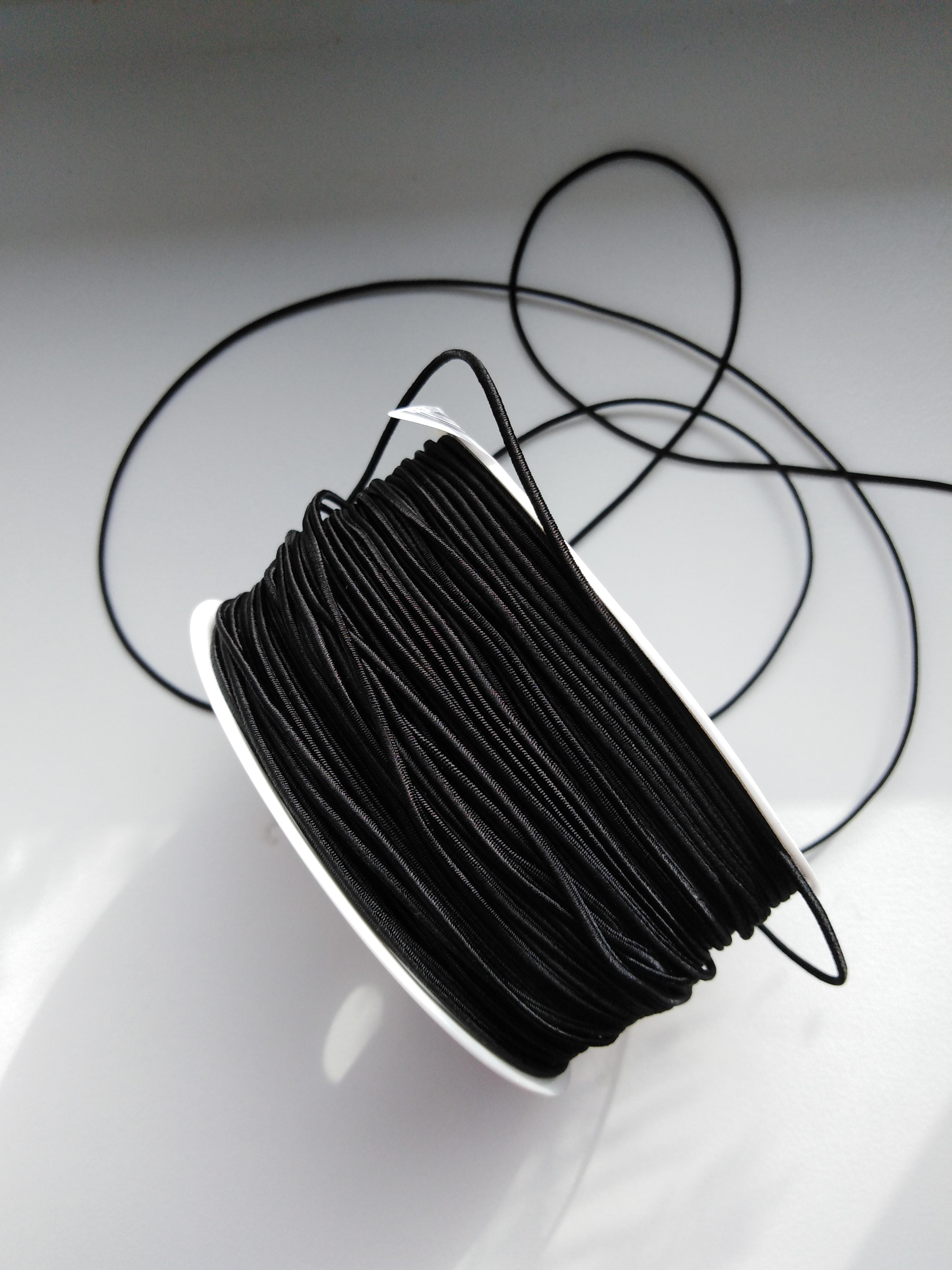 Klobouková guma 1,2 mm černá