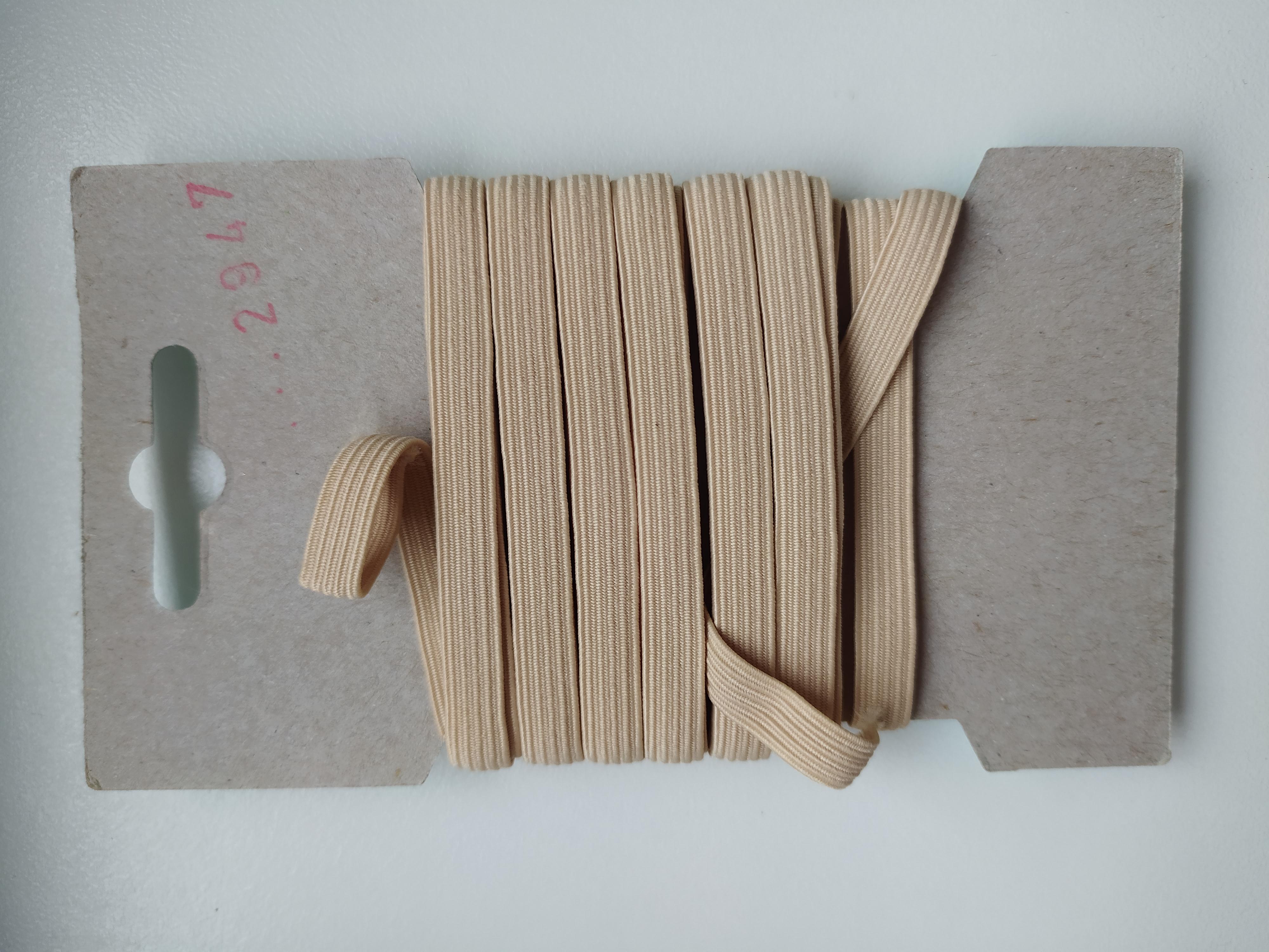 Pruženka 6,6 mm - karta 5 m béžová