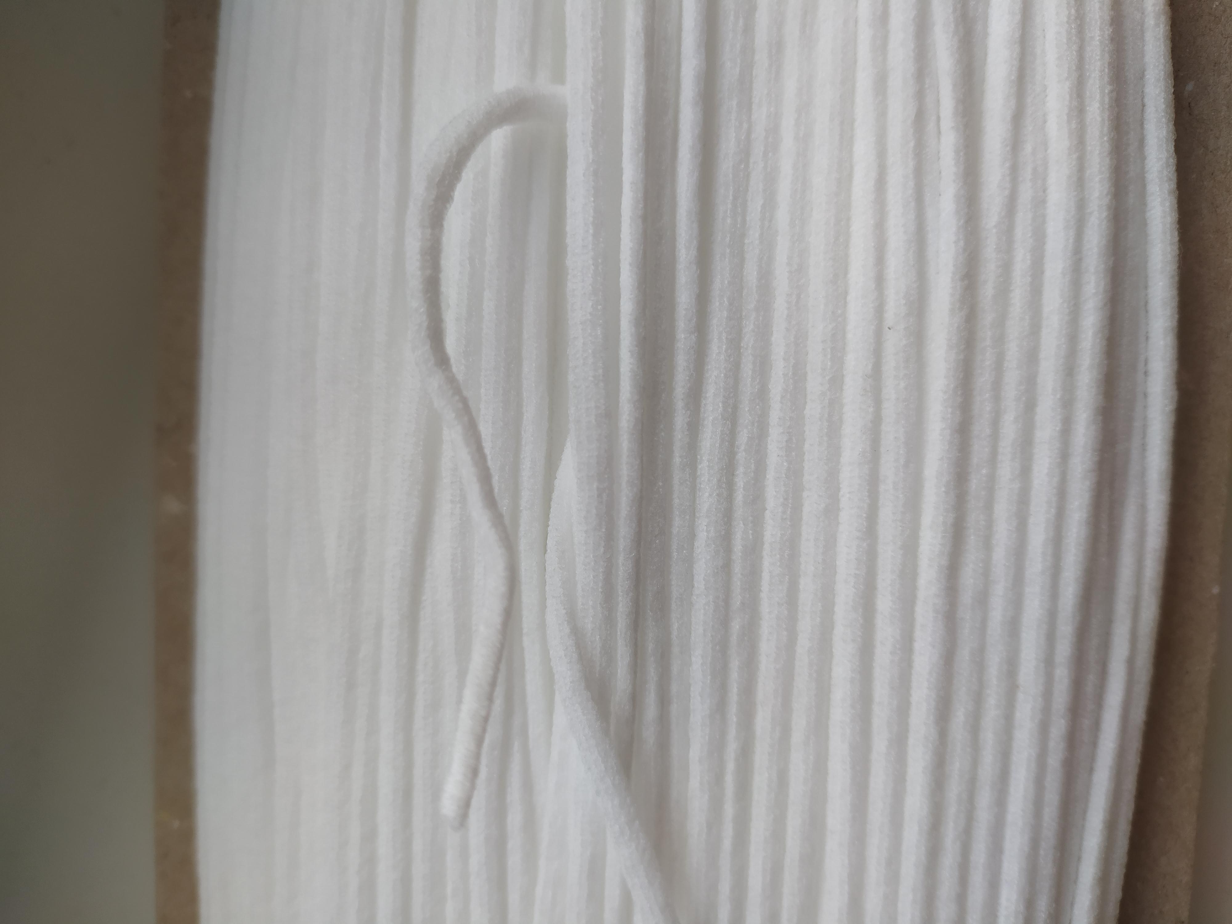 Pruženka okrouhlá roušková 3 mm bílá