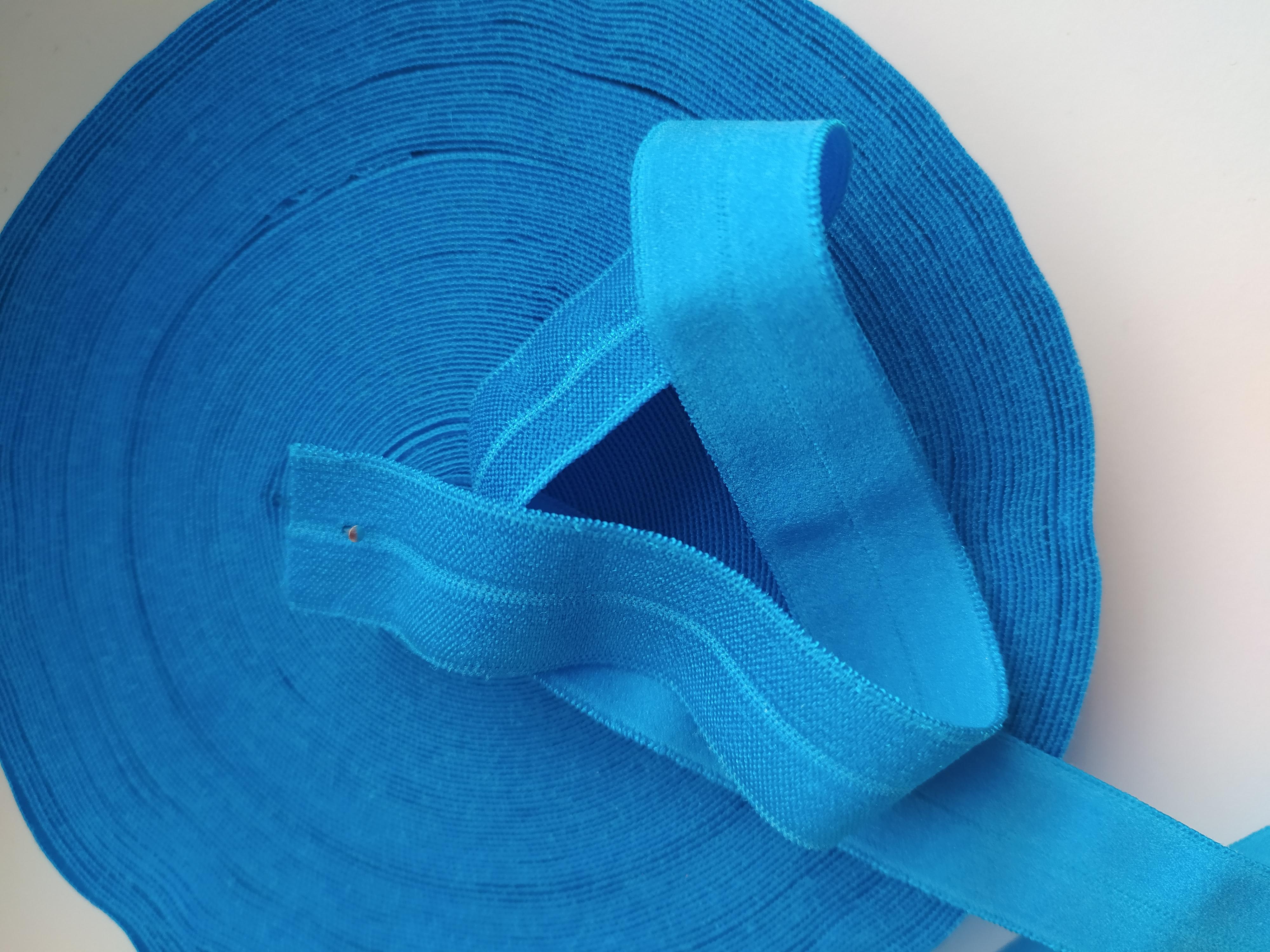 Pruženka lemovací půlená 19 mm tmavě modrý tyrkys