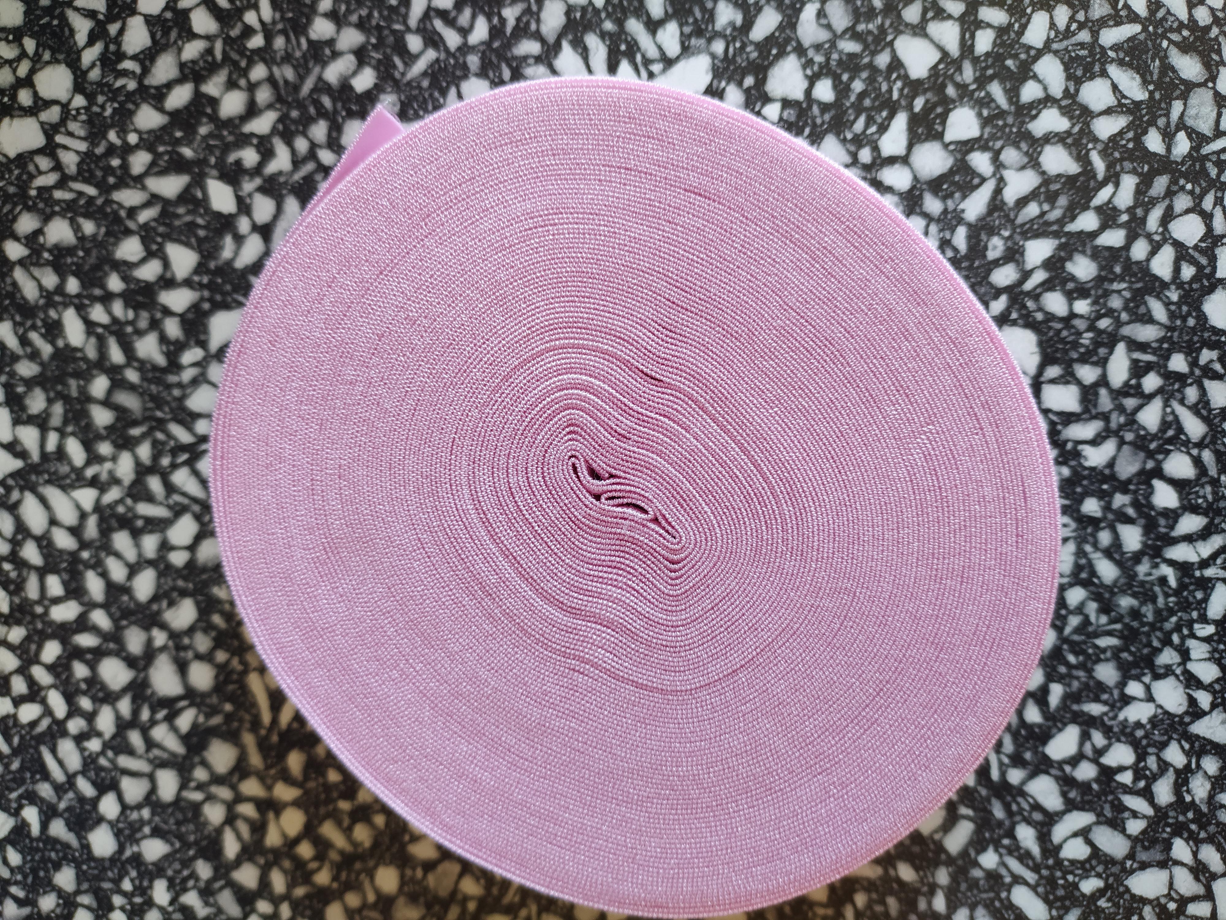 Pruženka lemovací půlená 19 mm světle růžová