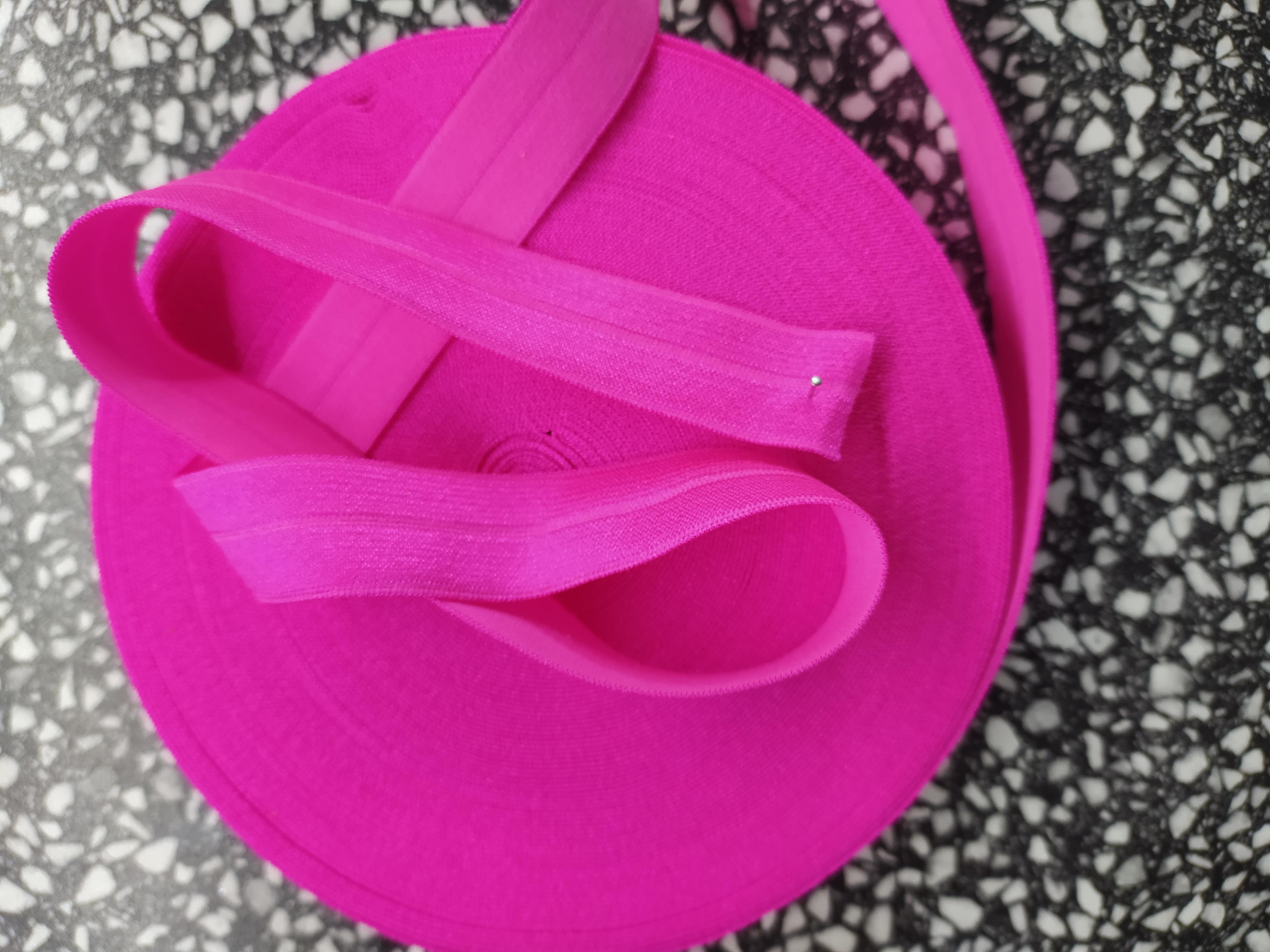 Pruženka lemovací půlená 19 mm Barbie růžová