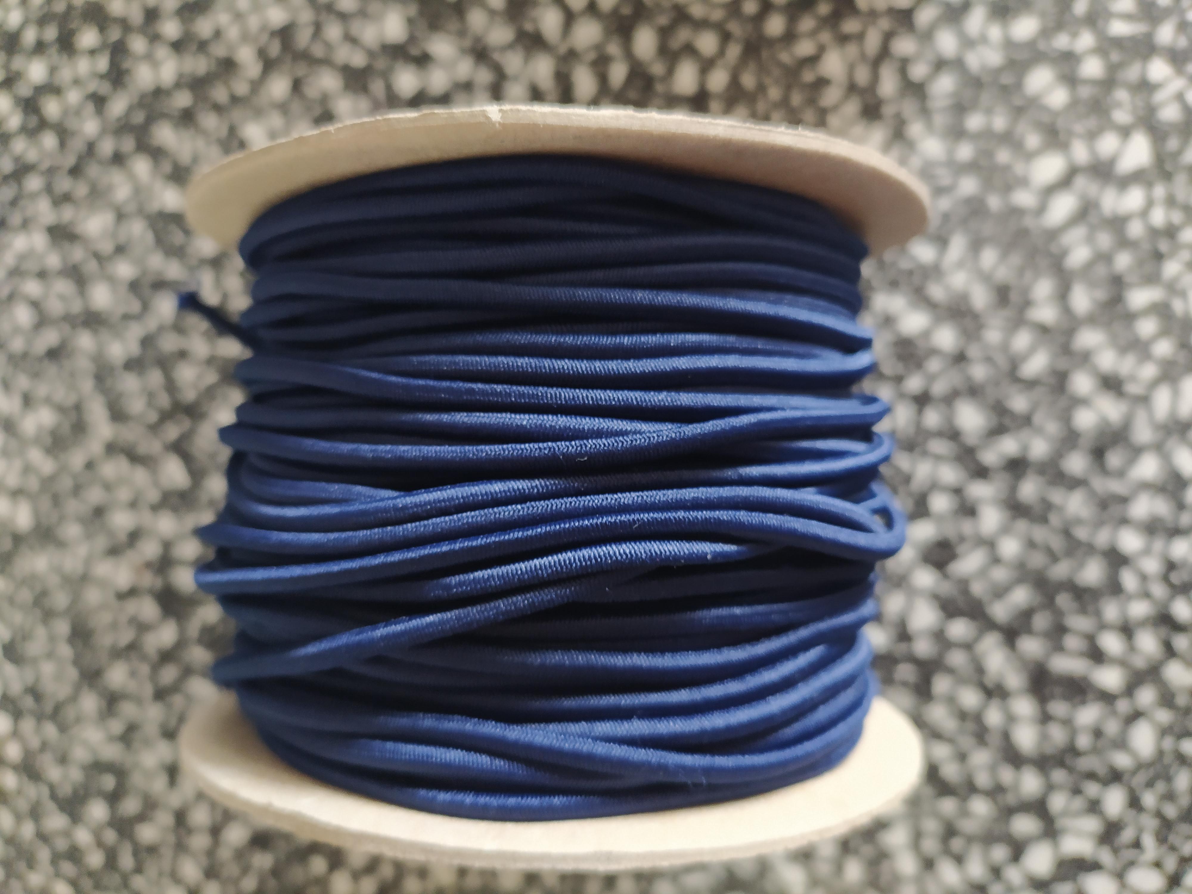 Klobouková guma 3 mm - tmavě modrá
