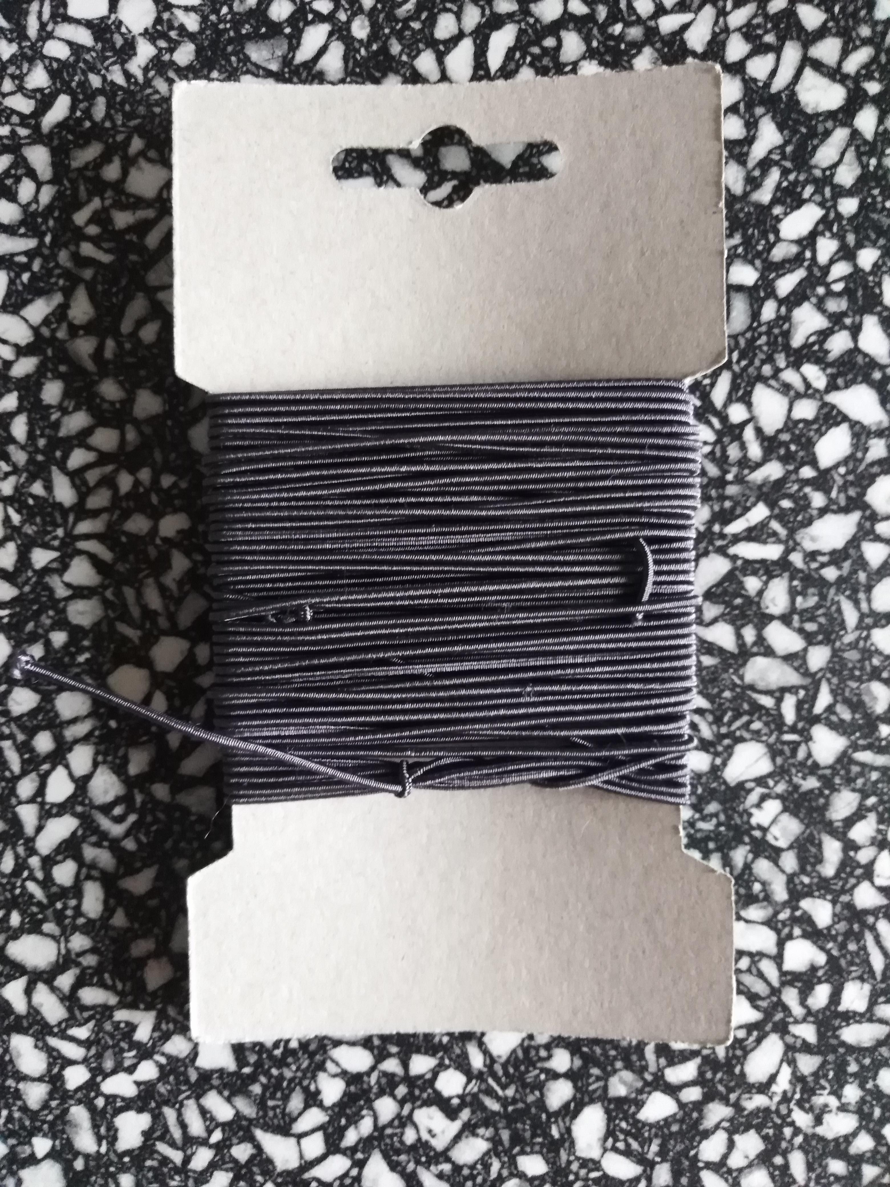 Klobouková guma 1,2 mm - karta 10 m tmavě šedá