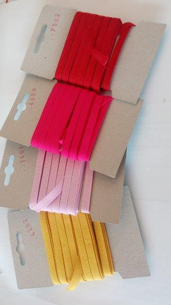 Pruženka 6,6 mm - karta 5 m červená