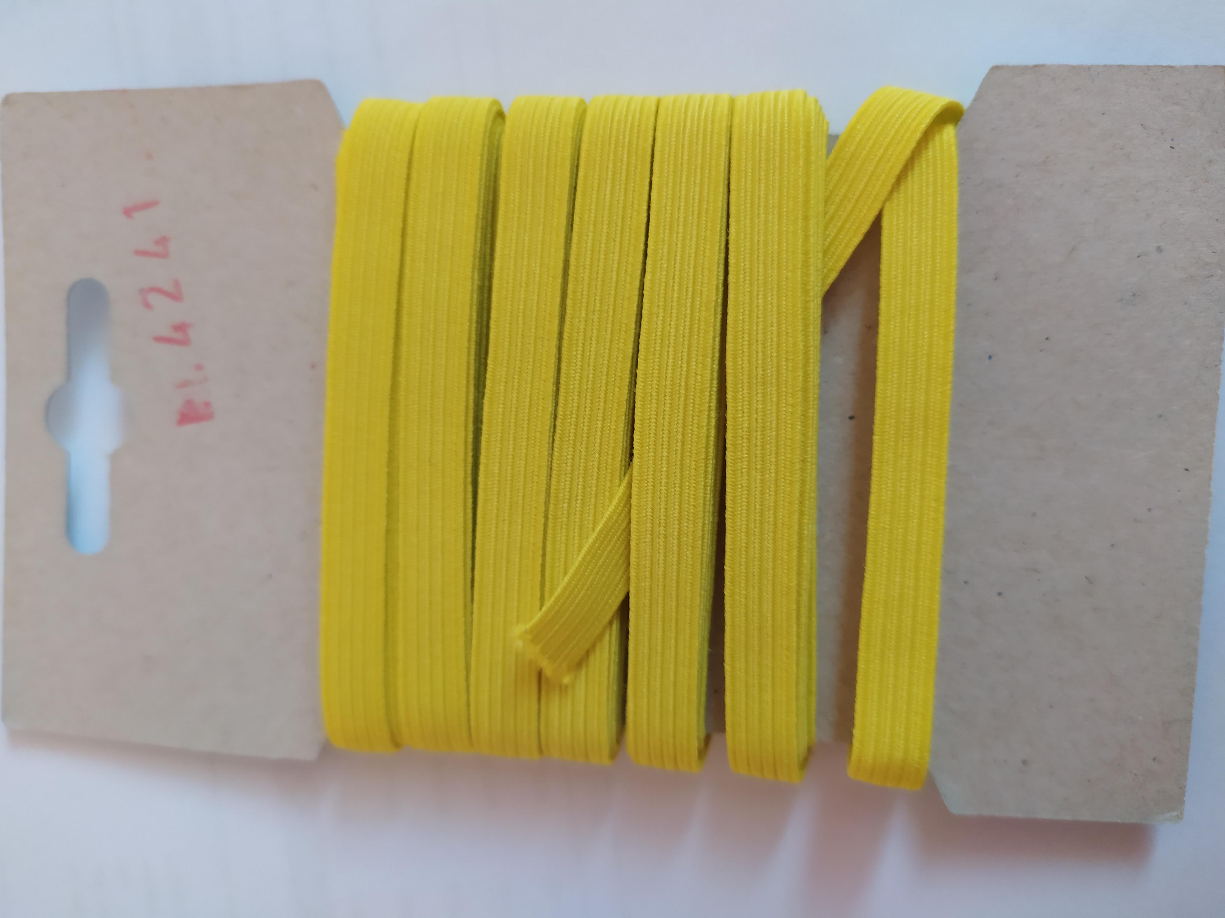 Pruženka 6,6 mm - karta 5 m žlutá