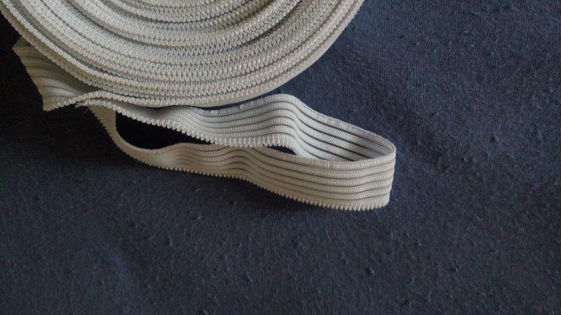 Pruženka oděvní silonová 20 mm bílá
