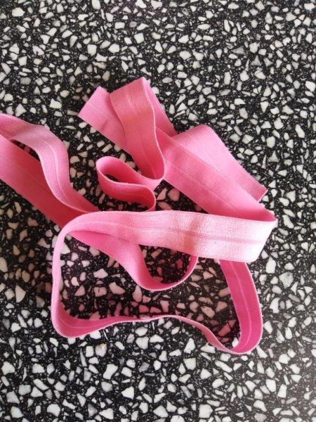 Pruženka lemovací půlená 19 mm růžová
