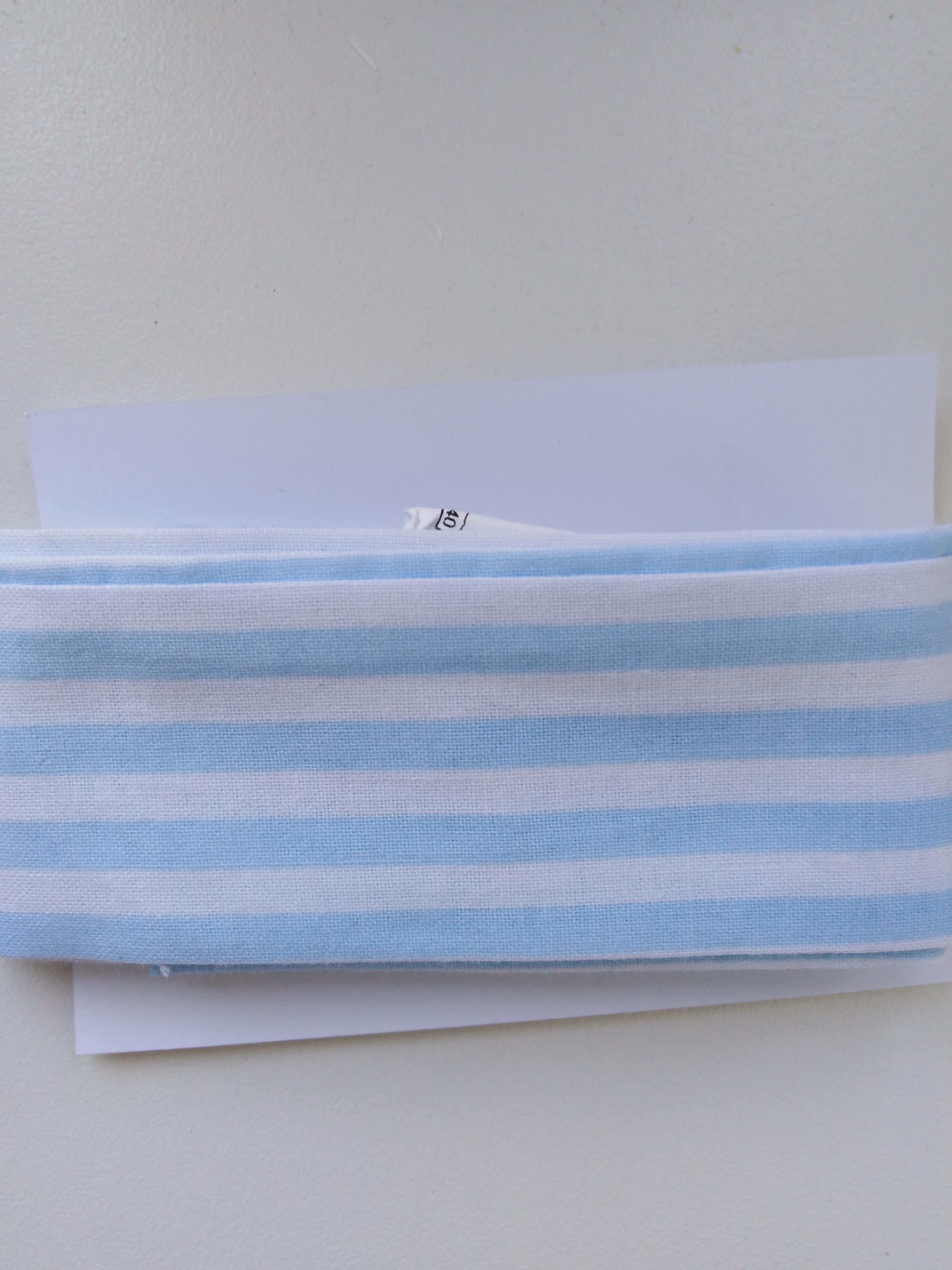 Bavlněná čelenka modro bílé pruhy