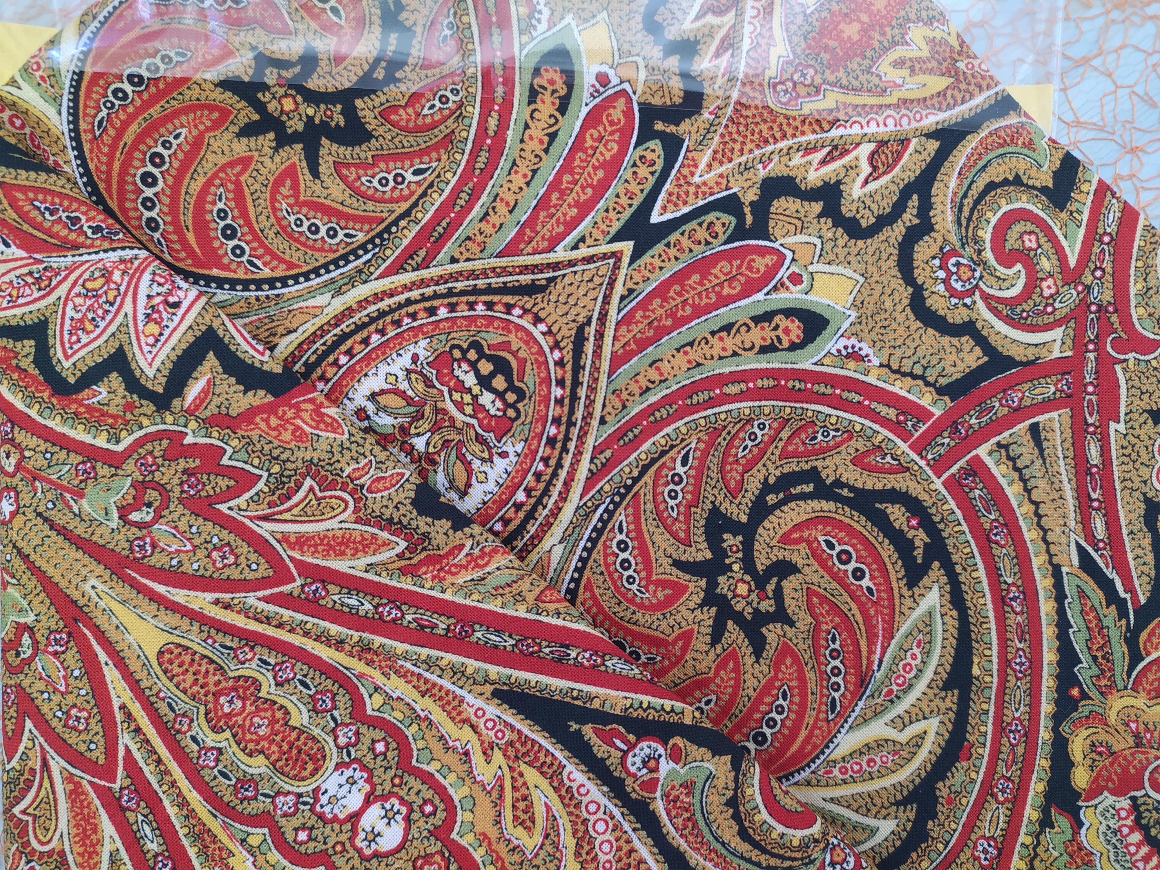 Bavlněný šátek 70 x 70 cm, kašmír oranžový