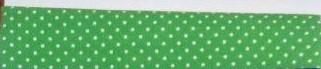Bavlněný šátek 65 x 65 cm, zeleno - bílý puntík 2 mm