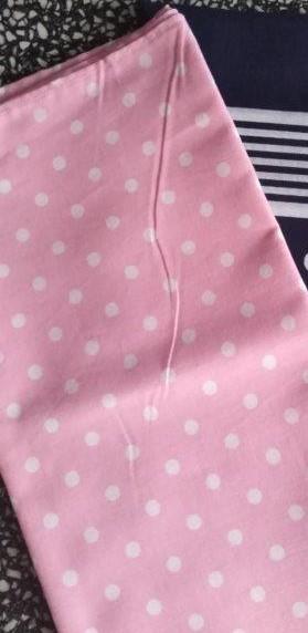 Bavlněný šátek 65 x 65 cm, růžovo bílý puntík 5 mm