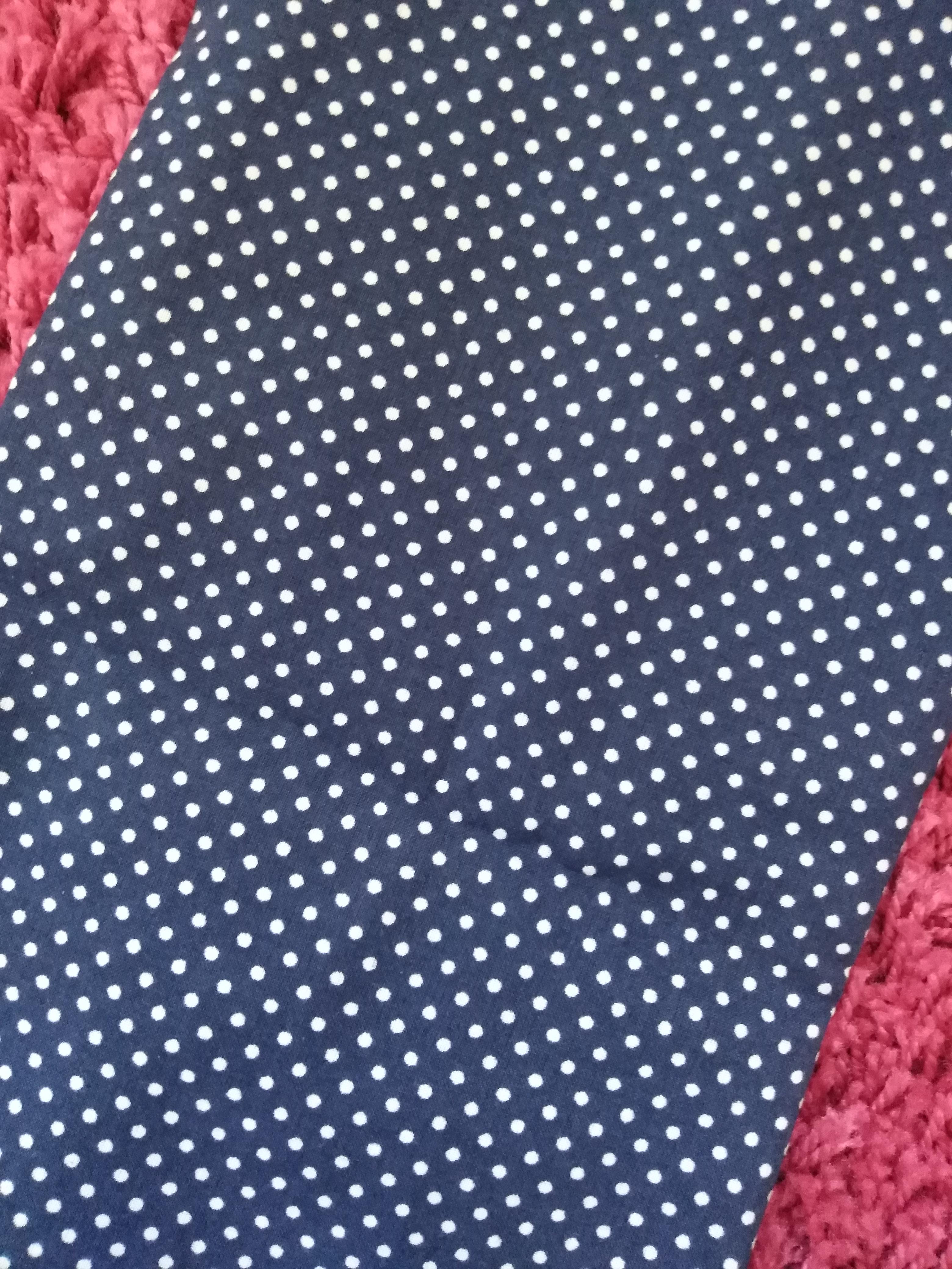 Bavlněný šátek 65 x 65 cm, modro bílý puntík 2 mm
