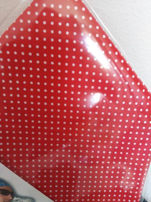 Bavlněný šátek 65 x 65 cm, červeno bílý puntík 2 mm