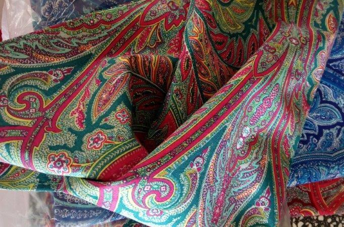 Bavlněný šátek 70 x 70 cm, kašmír barevný