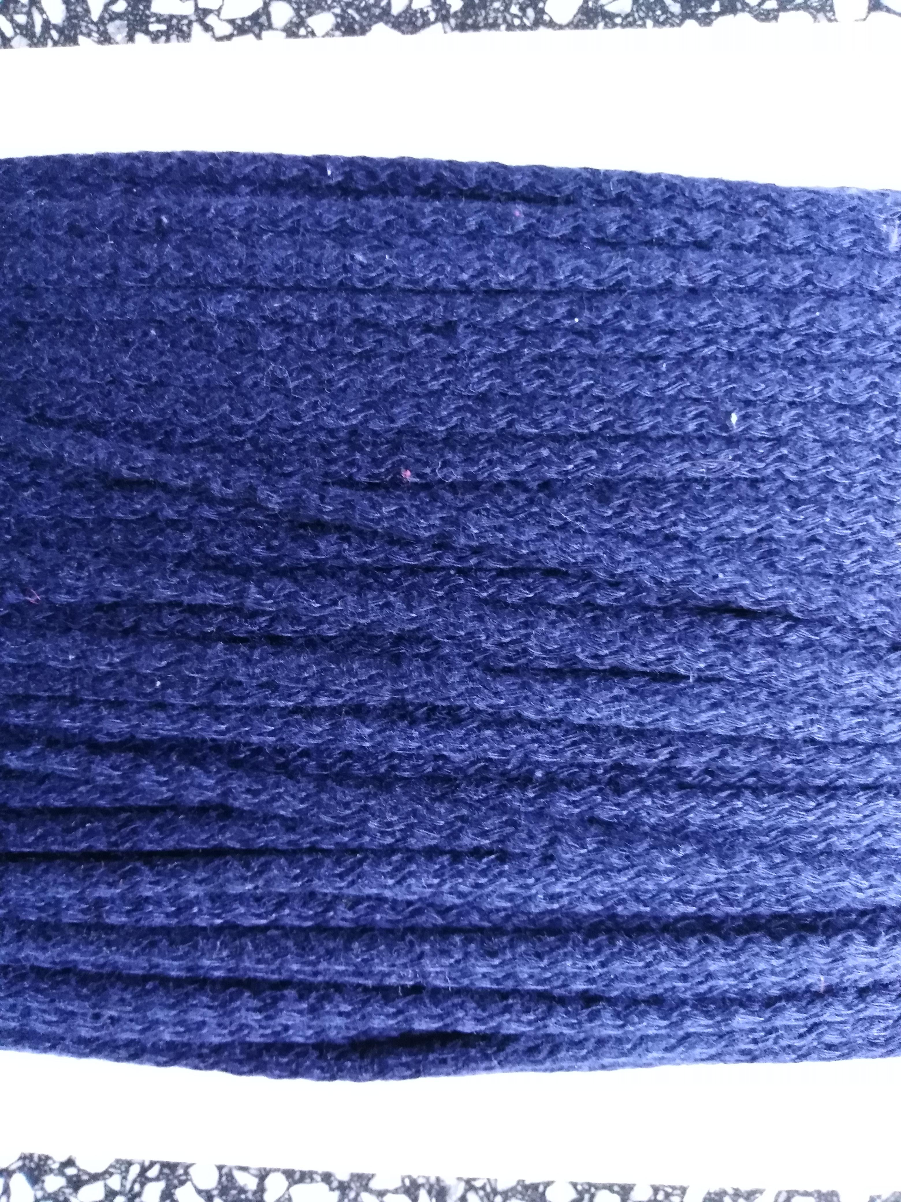 Šňůra oděvní bavlněná 4 mm tmavě modrá