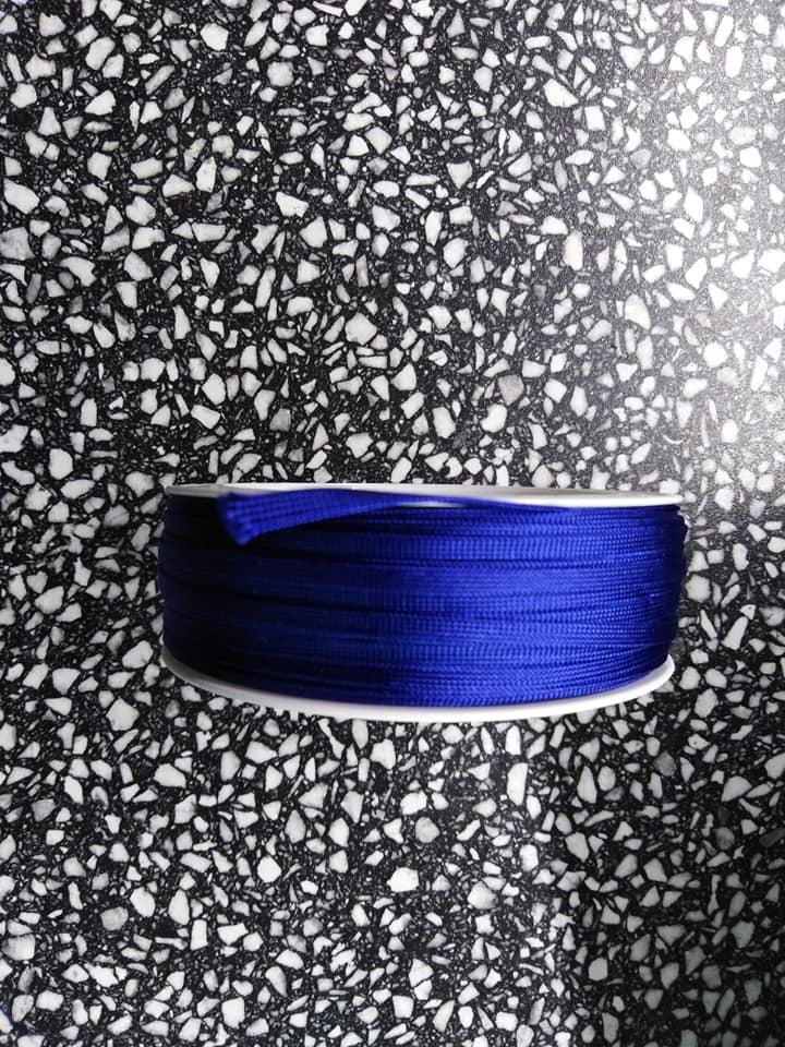 Dutinka šňůra 4 mm tmavě modrá