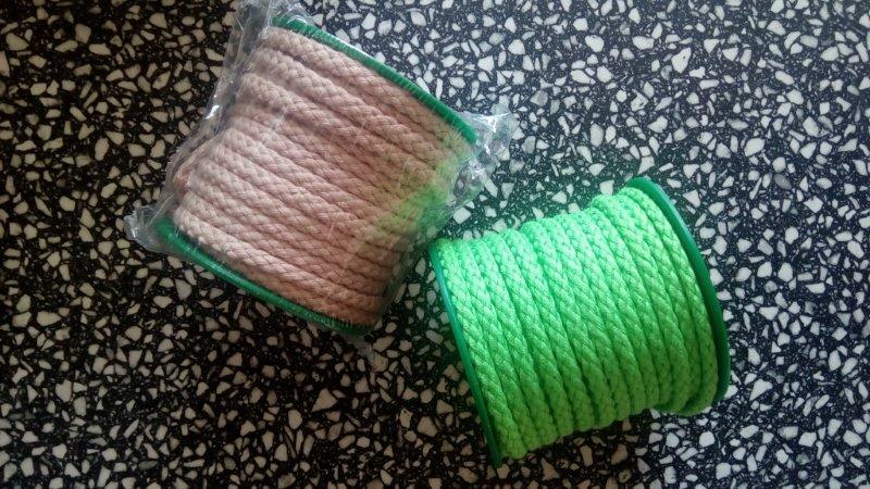 Šňůra oděvní bavlněná 5,3 mm béžová