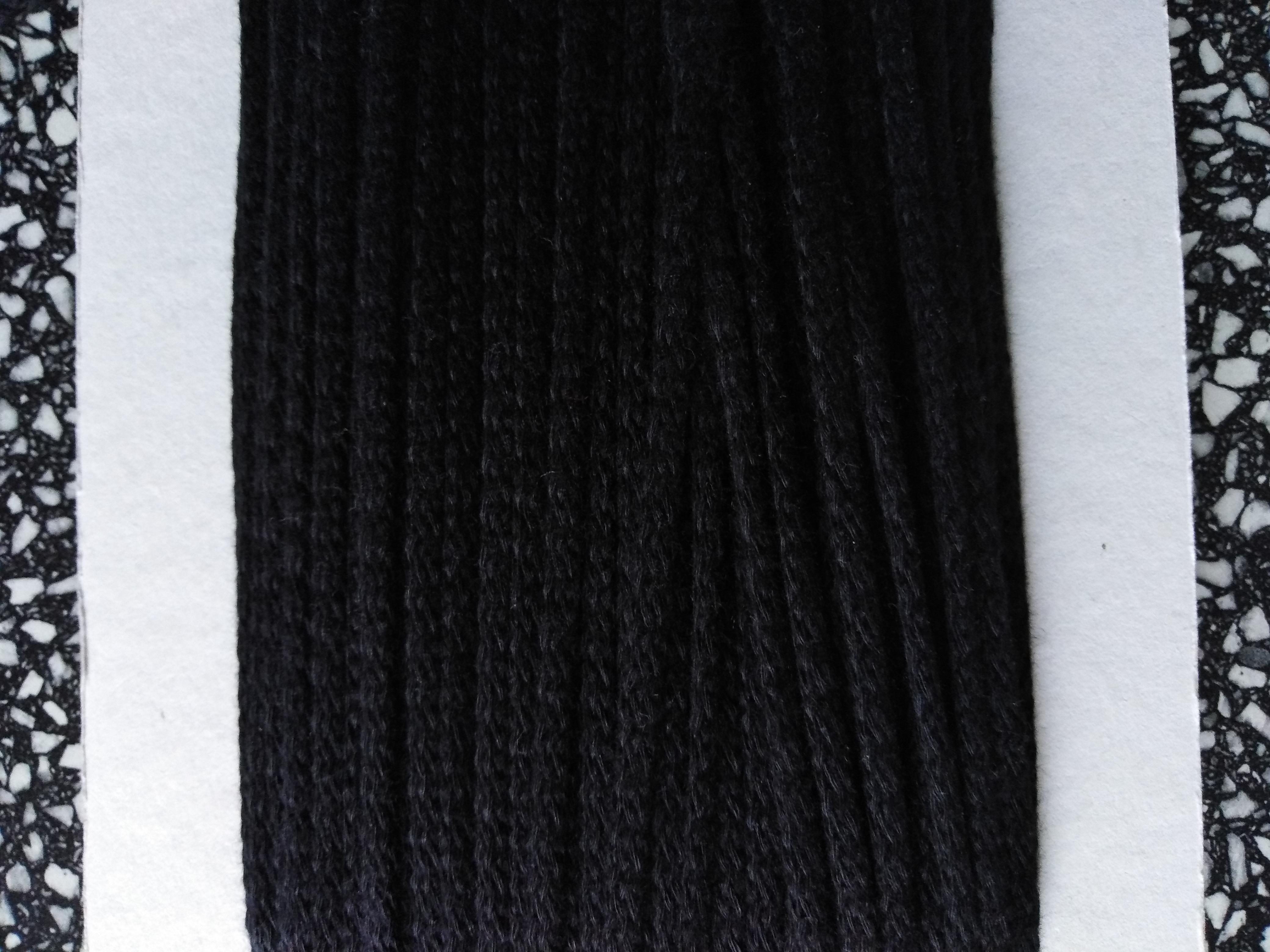 Šňůra oděvní bavlněná 4 mm černá