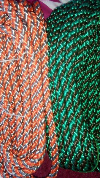 Šňůra proplétaná barevná 10 mm zelená+černá