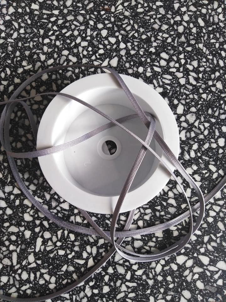 Dutinka šňůra 4 mm světle šedá