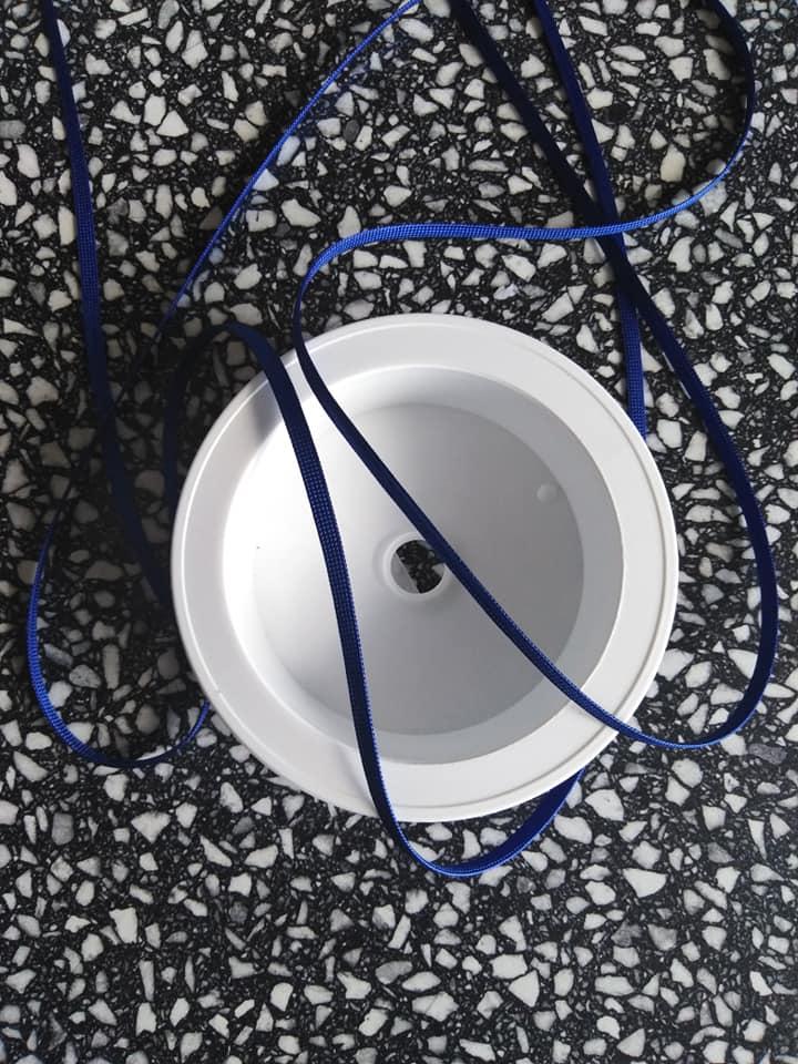 Dutinka šňůra 4 mm sytě modrá