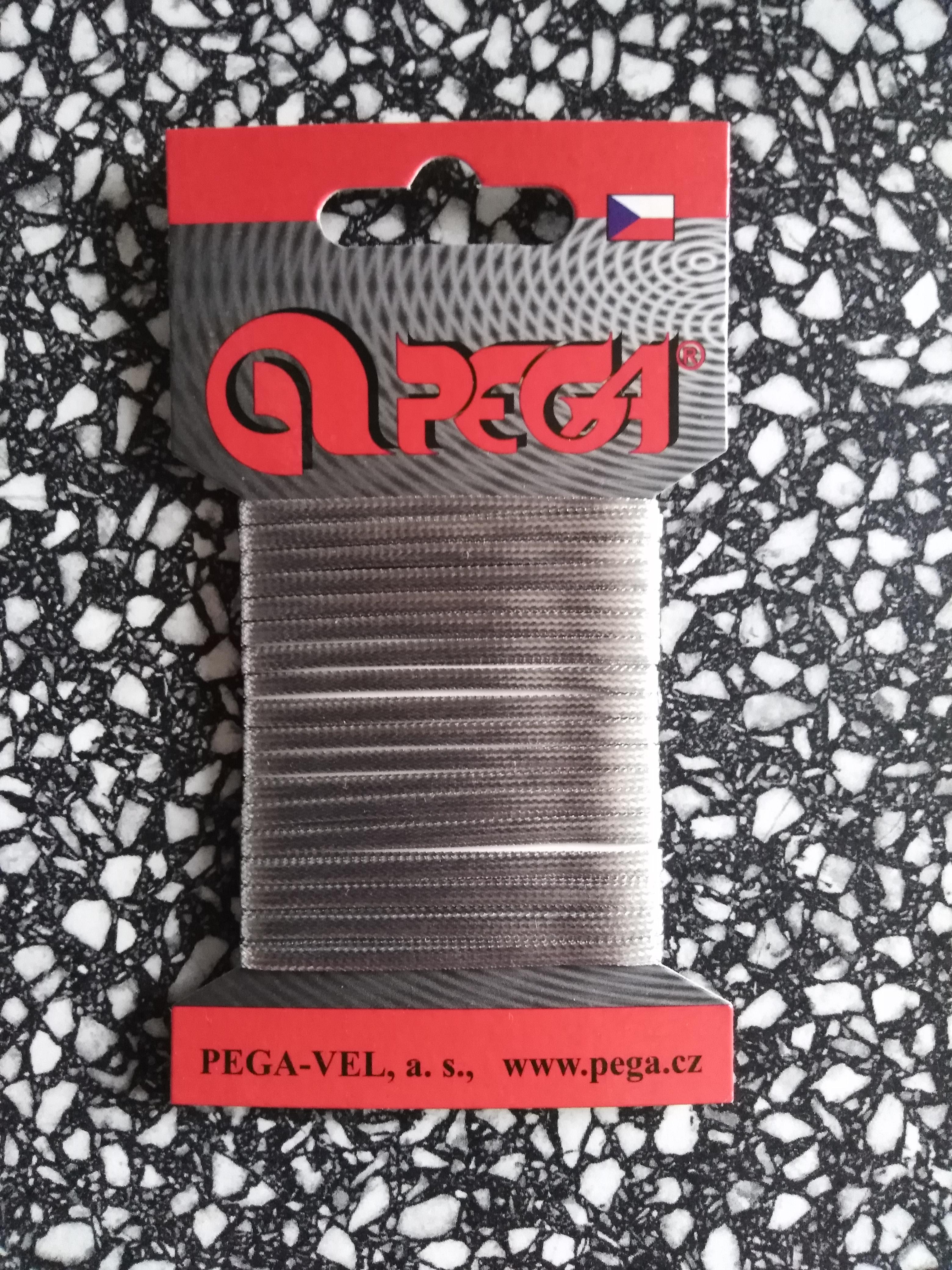 Prýmek leonský 3 mm - karta 5 m stříbrný