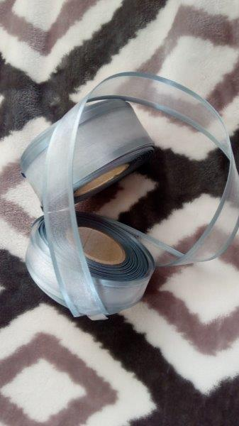 Stuha monofilová s vlascem 25 mm šedá
