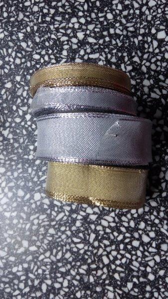 Stuha monofilová s drátem 10 mm stříbrná