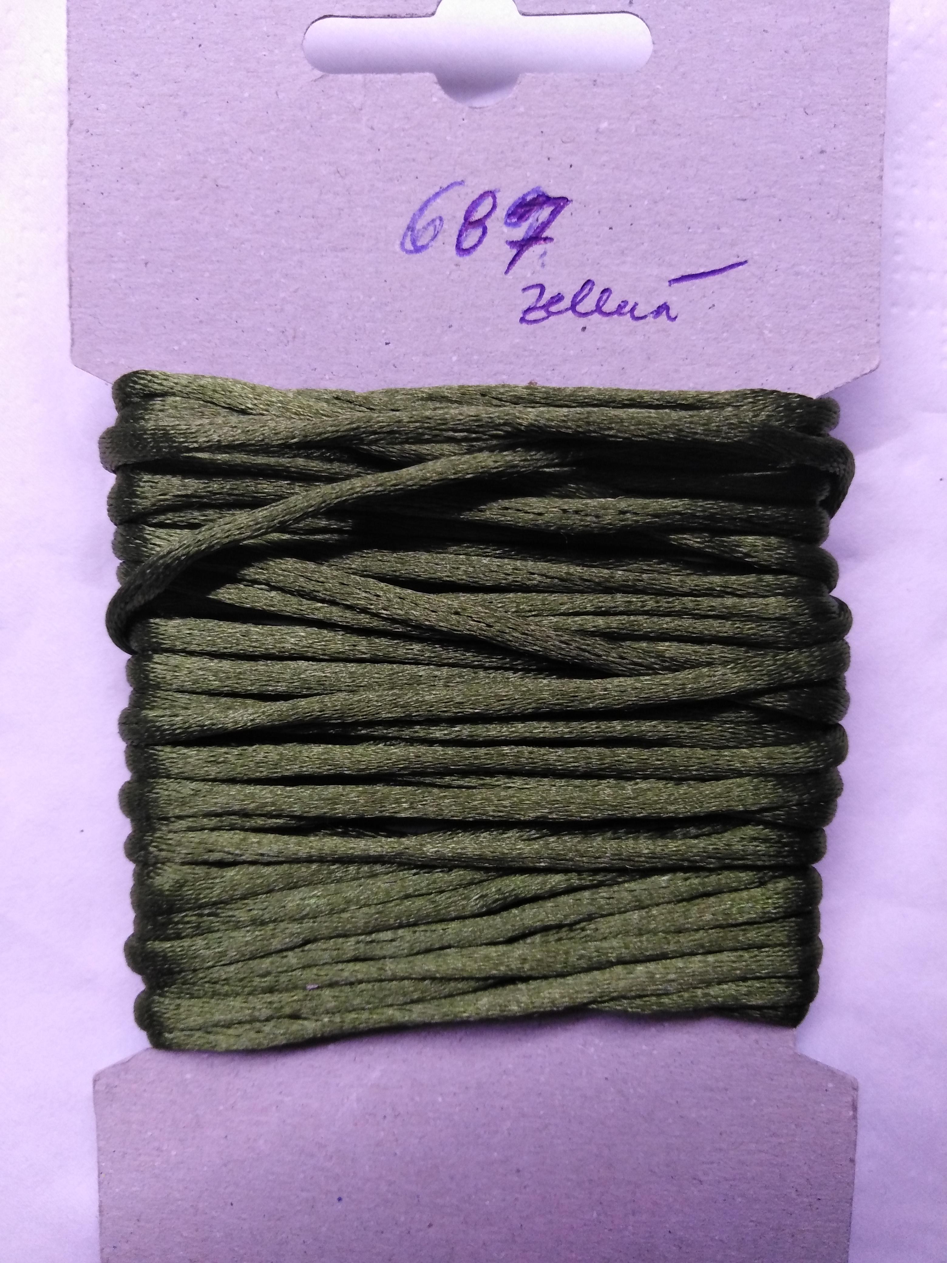 Šňůrka atlasová 2 mm zelená