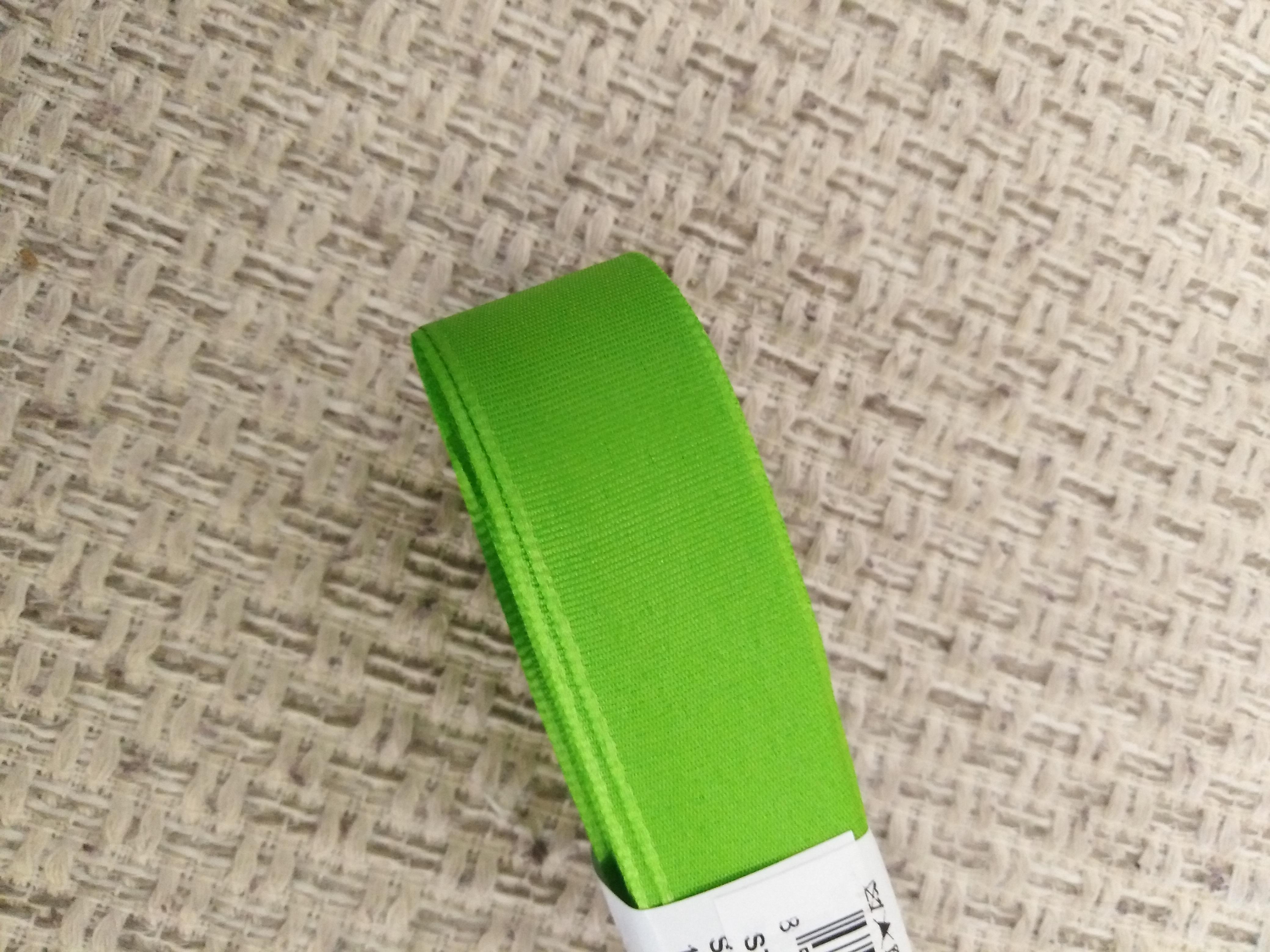 Stuha taftová 20 mm jarní zeleň