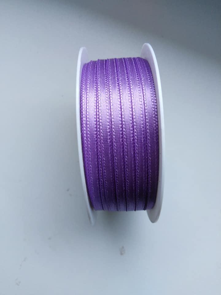 Stuha saténová 3 mm fialová