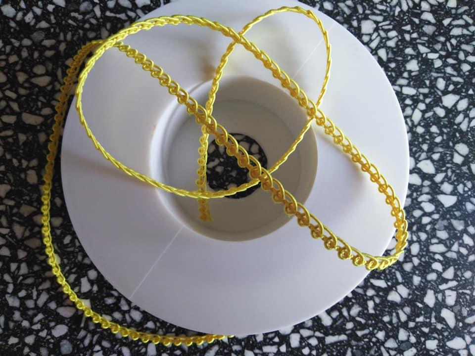 Prýmek galonový 5 mm kanárkově žlutý
