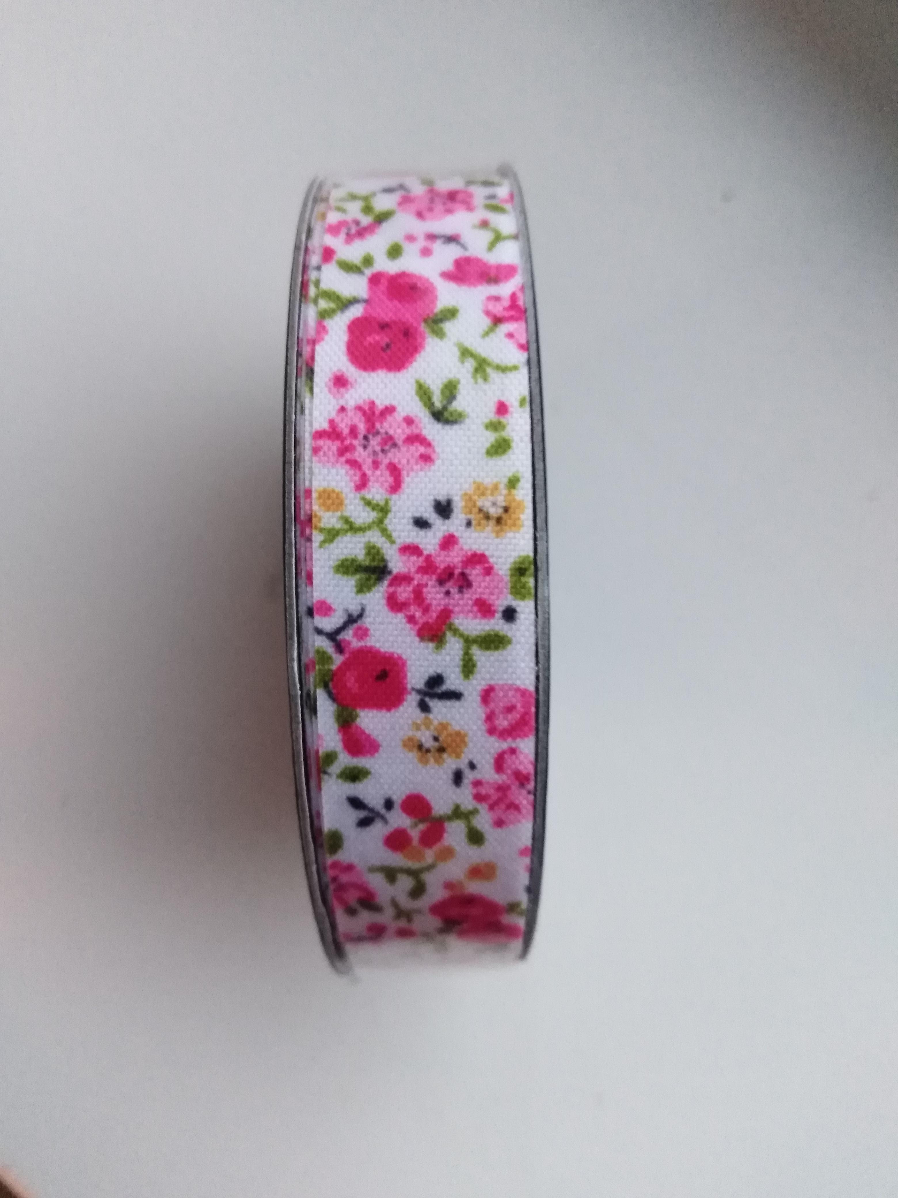 Stuha samolepící 15 mm růžová
