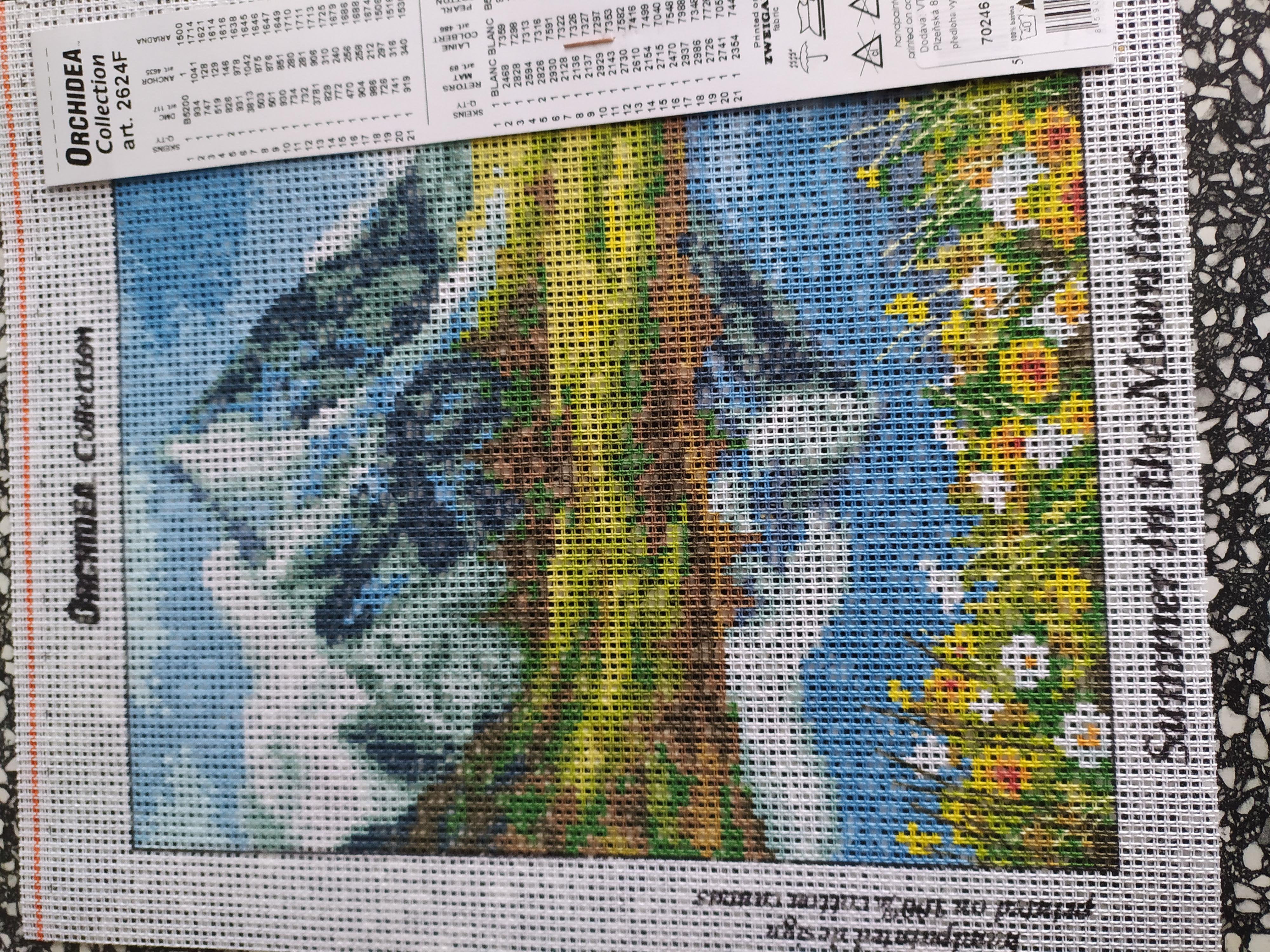Předloha vyšívací 18 x 24 cm Léto v horách