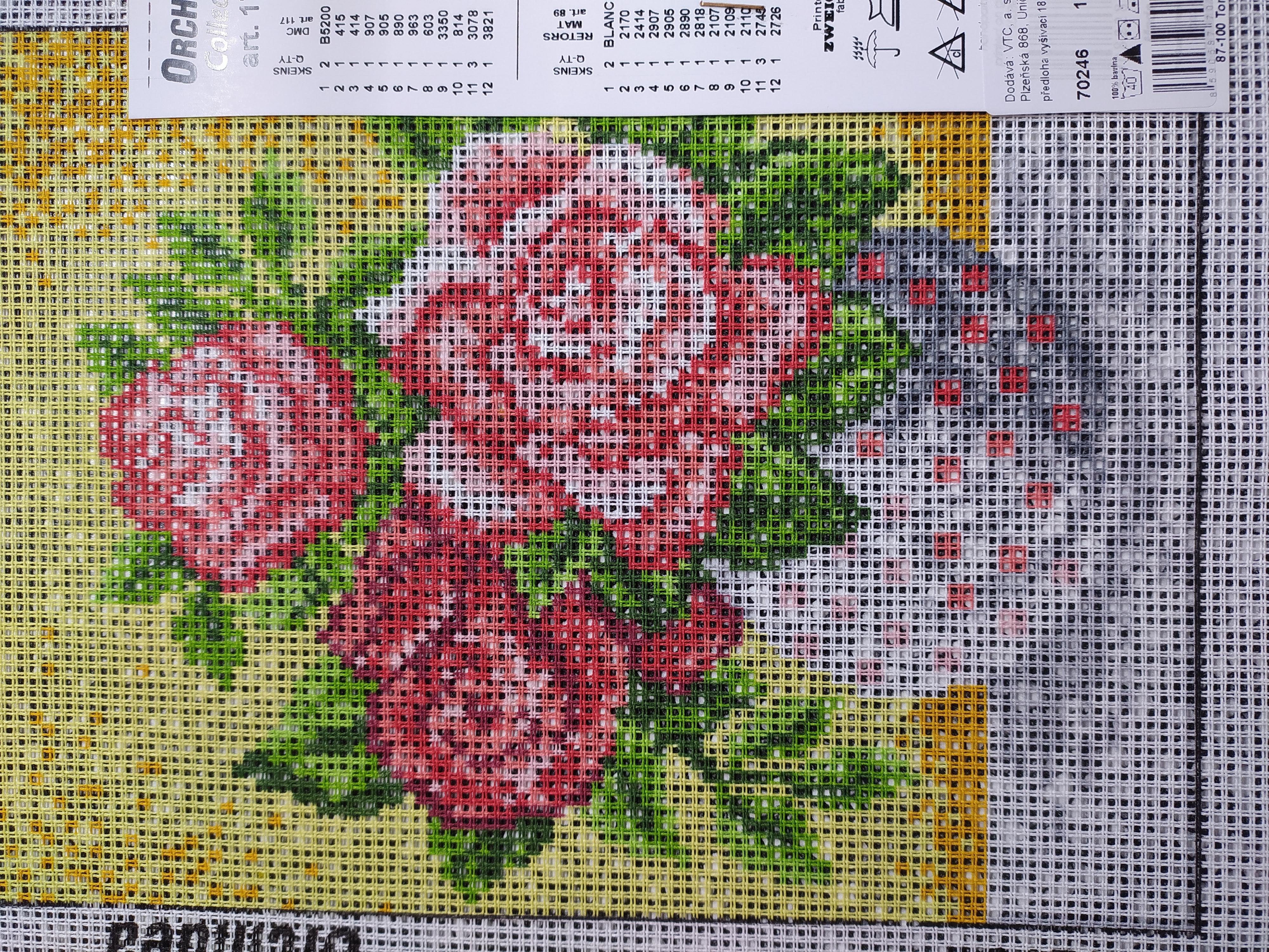 Předloha vyšívací 18 x 24 cm Květiny 6