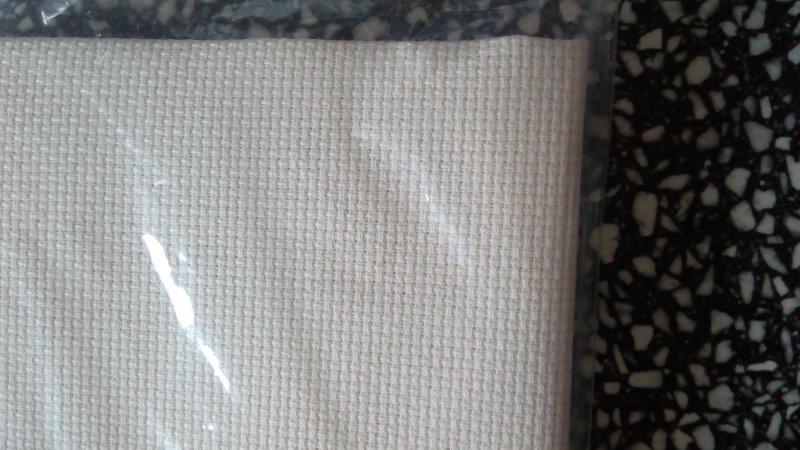 Látka na vyšívání - kanava 50 x 70 cm (70 oček/10 cm) bílá