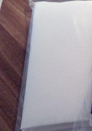 Látka na vyšívání - panamka 50 x 70 cm ( 90 oček/10 cm) bílá