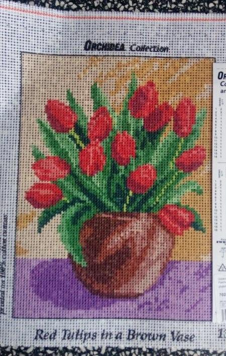 Předloha na vyšívání 18 x 24 cm tulipány