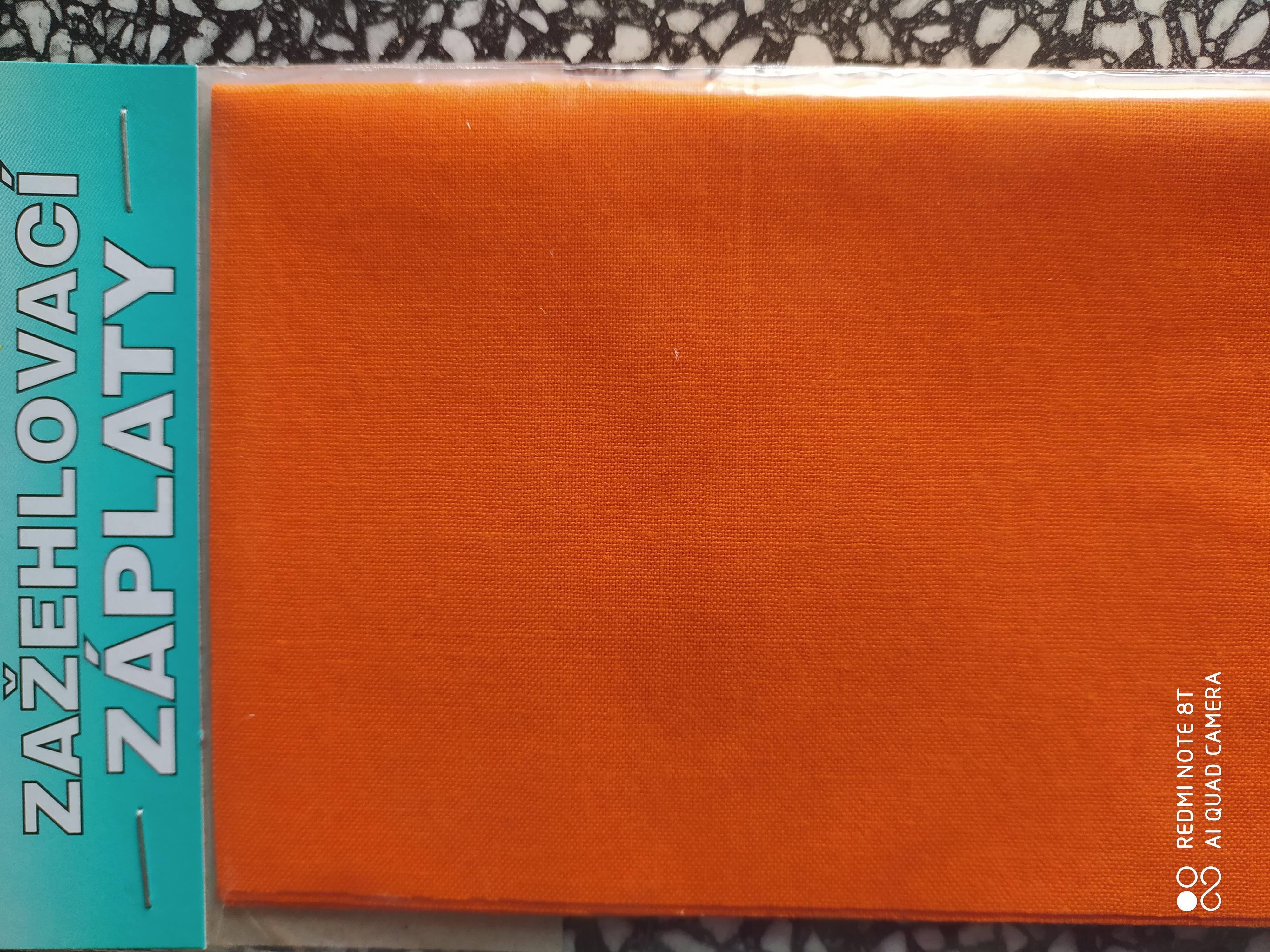 Záplaty nažehlovací oranžové
