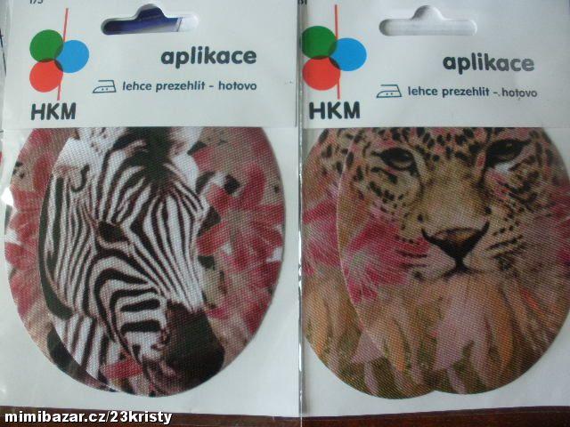 Záplaty zažehlovací potisk leopard