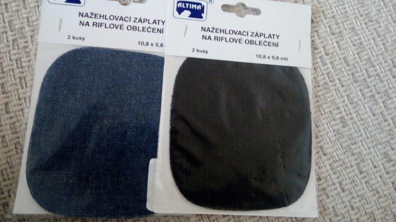 Záplaty zažehlovací Jeans černé