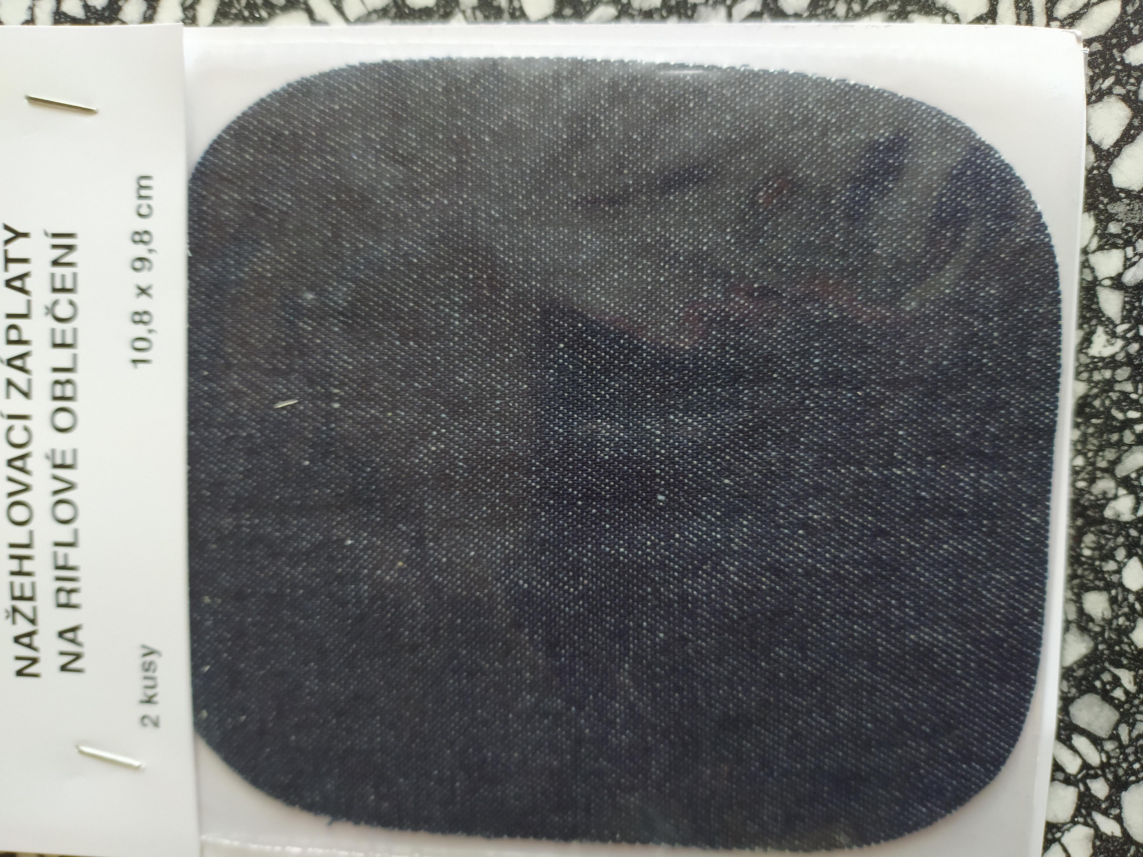 Záplaty zažehlovací Jeans tmavě modré