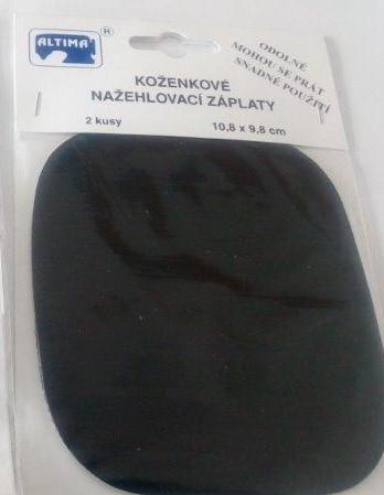 Záplaty koženkové nažehlovací černé